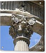 Detailed View Of Corinthian Order Column Acrylic Print
