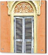 Detailed Window Of Rome Acrylic Print
