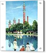 Detroit - Gladwin Waterworks Park - Jefferson Avenue At The Detroit River - 1905 Acrylic Print