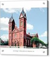 Detroit - Sheridan Avenue - St Anthony Catholic Church - 1910 Acrylic Print