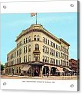 Detroit - The Brunswick Hotel - Grand Rive And Cass Avenues - 1900 Acrylic Print