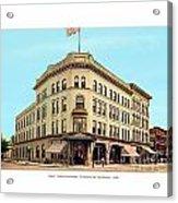 Detroit - The Cadillac Hotel - Cadillac Boulevard And Michigan Avenue - 1918 Acrylic Print