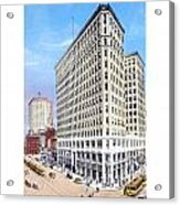 Detroit - The Lafayette Building - Michigan Avenue Lafayette And Shelby Streets - 1924 Acrylic Print