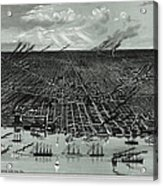Detroit Aerial View 1889 Acrylic Print