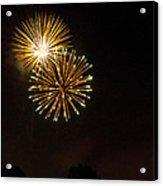 Detroit Area Fireworks -3 Acrylic Print