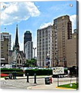 Detroit As Seen From Comerica Acrylic Print