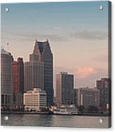 Detroit At Dusk Acrylic Print