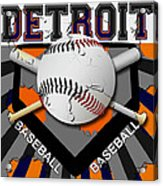 Detroit Baseball  Acrylic Print by David G Paul