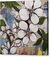 Detroit Blooms Acrylic Print by Andrea LaHue aka Random Act