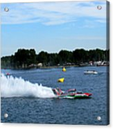 Detroit Hydroplane Race  Acrylic Print by Michael Rucker