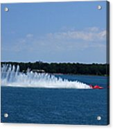 Detroit Hydroplane Races Acrylic Print by Michael Rucker