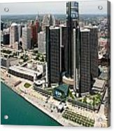 Detroit International Riverfront Acrylic Print