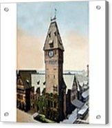 Detroit - Michigan Central Railroad Depot - Jefferson Avenue - 1900 Acrylic Print