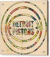 Detroit Pistons Vintage Logo Acrylic Print