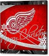 Detroit Red Wings Christmas Acrylic Print