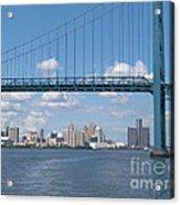 Detroit River Crossing Acrylic Print