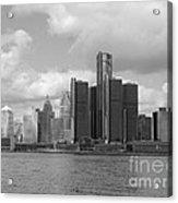 Detroit Skyscape Acrylic Print