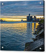 Detroit Sunset Acrylic Print