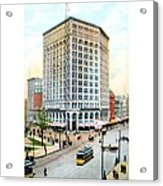 Detroit - The Majestic Building - Woodward Avenue - 1900 Acrylic Print