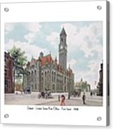 Detroit - United States Post Office - Fort Street - 1908 Acrylic Print