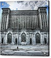 Detroit's Abandoned Michigan Central Train Station Depot Acrylic Print