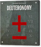 Deuteronomy Books Of The Bible Series Old Testament Minimal Poster Art Number 5 Acrylic Print by Design Turnpike