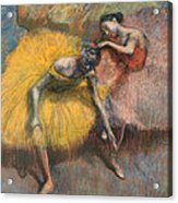 Deux Danseuses Jaunes Et Roses Acrylic Print