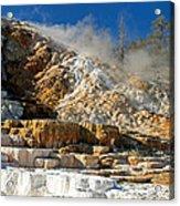 Devils Thumb At Mammoth Hot Springs Acrylic Print