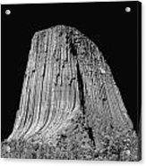 109851-bw-devil's Tower 2  Acrylic Print