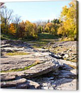 Devonian Fossil Gorge Coralville Lake Ia 3 Acrylic Print