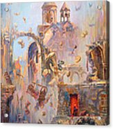 Devoted To The Saint Memory Of The Victims Of Armenian Genocide Acrylic Print