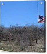 Dfw National Cemetery Flag On The Hill Acrylic Print