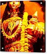 Dhanalakshmi-the Hindu Goddess Of Wealth Acrylic Print