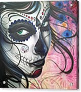 Dia De Los Muertos Chica Acrylic Print
