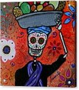 Dia De Los Muertos Fruit Vendor Acrylic Print