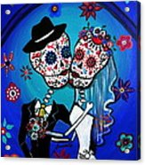 Dia De Los Muertos Kiss The Bride Acrylic Print
