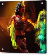 Diabolic. Passionate Dance Of The Night Angels Acrylic Print by Jenny Rainbow
