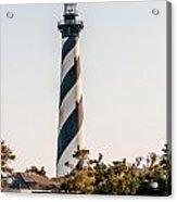Diagonal Black And White Stripes Mark The Cape Hatteras Lighthou Acrylic Print