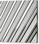 Diagonal Lines Of A Chicago Building Acrylic Print