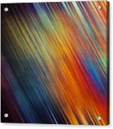 Diagonal Rainbow Acrylic Print