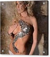 Diamond Girl Acrylic Print