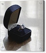 Diamond Ring On A Black Box Acrylic Print