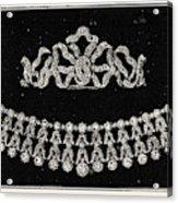 Diamond Tiara, Necklace, And Ear Rings Presented Acrylic Print