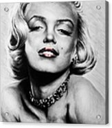 Diamonds Are A Girls Best Friend   Hot Lips Edition Acrylic Print by Andrew Read