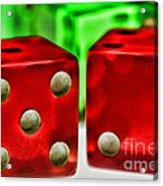 Dice - Lucky Seven Acrylic Print