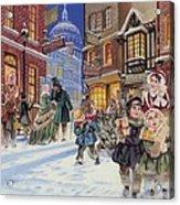 Dickensian Christmas Scene Acrylic Print