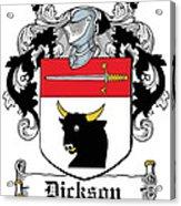 Dickson Coat Of Arms Dublin Acrylic Print