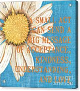 Dictionary Florals 4 Acrylic Print by Debbie DeWitt