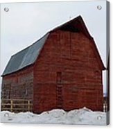 Dictionary's Red Barn Acrylic Print
