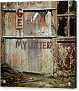 Did You Get My Letter? Acrylic Print